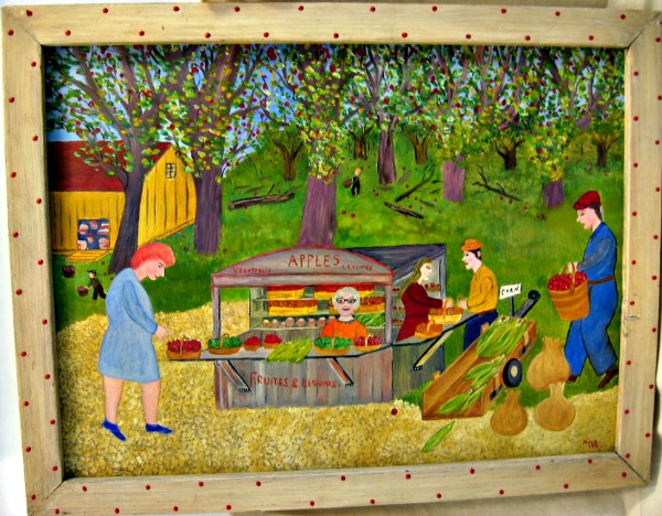 Bill Male. Laprairie, Quebec. The Apple Orchard.