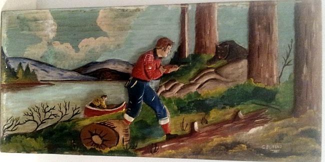 C. Dubeau. Relief Carving. St. Jovite, Quebec.