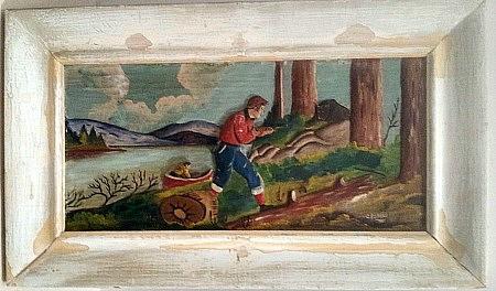 C. Dubeau. Reliel Carving. St.-Jovite, Quebec. 1930. s