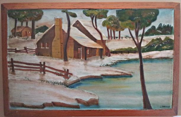 L. Garnier. Quebec. Naive painting.