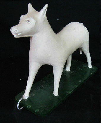 Louis Bolduc. Carving of a White Horse.