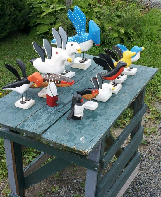 An outdoor display in front of Murray Eisnor's House in Martins River. 2010.