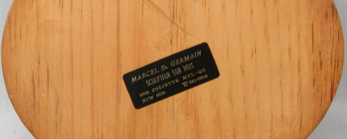 Marcel St. Germain. Woodcarver. Montreal, Que. His mark.