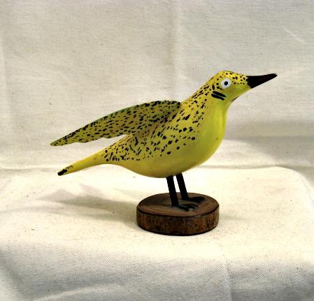 Anne-Marie Voisine. Saint-Pascal, Kamouraska, Quebec. Yellow Bird. 1970's.