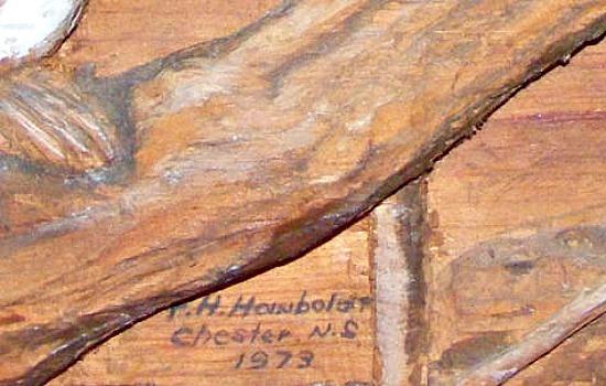 F.H. Hawbold. Chester, Nova Scotia. 1973. His mark.