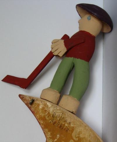 Rejean Bernier. Grande-Vallee, Quebec. Wood carver. s