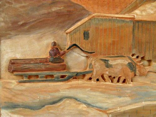 J. Hamelin. Detail of Relief of The Sugar Camp.