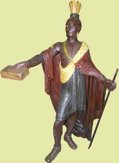 Jean Baptiste Cote. Attrib. Cigar Store Figure. 19th C.