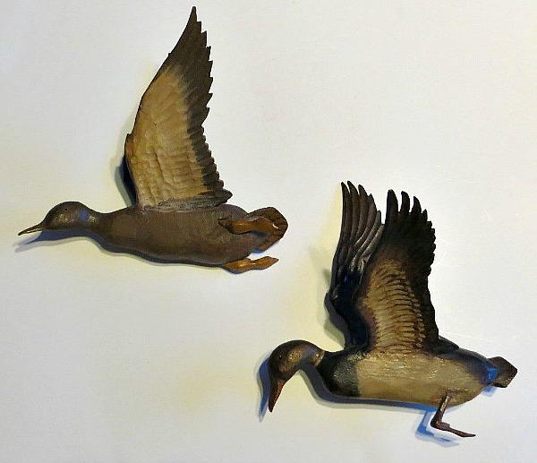 R. G. Cooper. Wood carver. Fredericton, N.B. Carved Ducks.