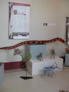 Danielle Samson. Showing at the Museum of Kamouraska.