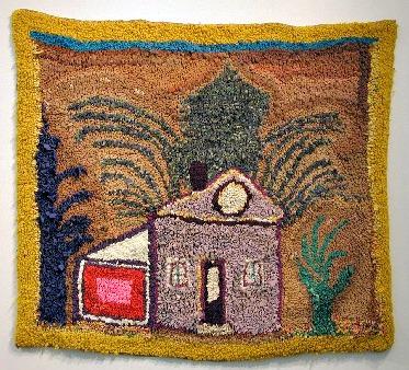 Madelaine Duguay Monette. Fabric Artist. Rug Hooker. Kooked Mat. The House.