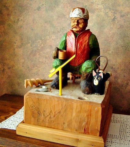 Richard Metivier. Quebec. Sculptor. Wood carver. Active 1995.