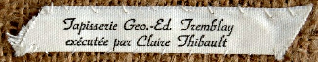 The Label of Claire Thibault and Georges-Edouard Tremblay.