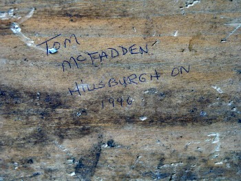 Tom McFadden. His mark.