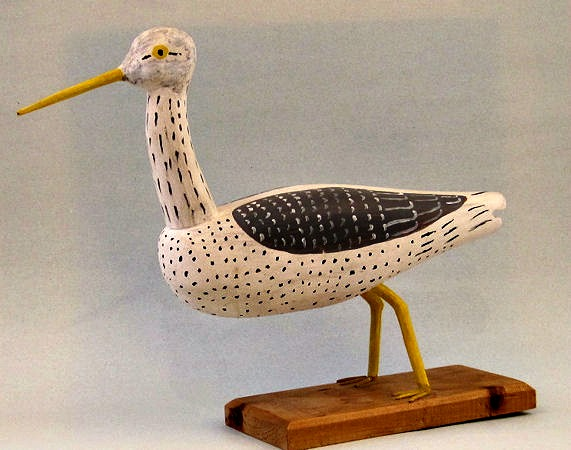 Carving of a Willet by Joseph Moulaison, Yarmouth, Nova Scotia.