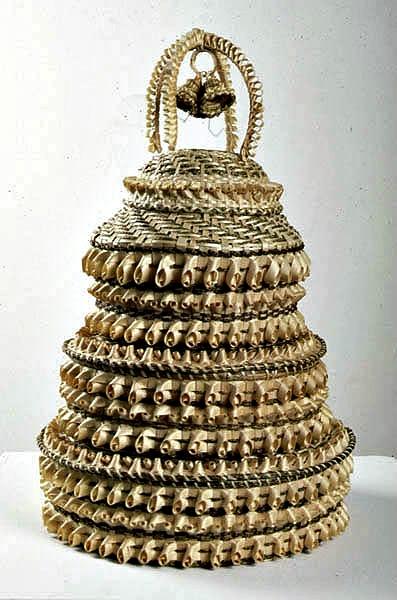 Wedding Basket by Mary Adams.  St. Regis, Quebec. 1995.