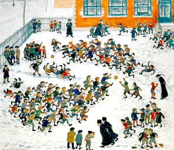 Jean-Charles Faucher. Montreal. C. 1940. The School Yard.