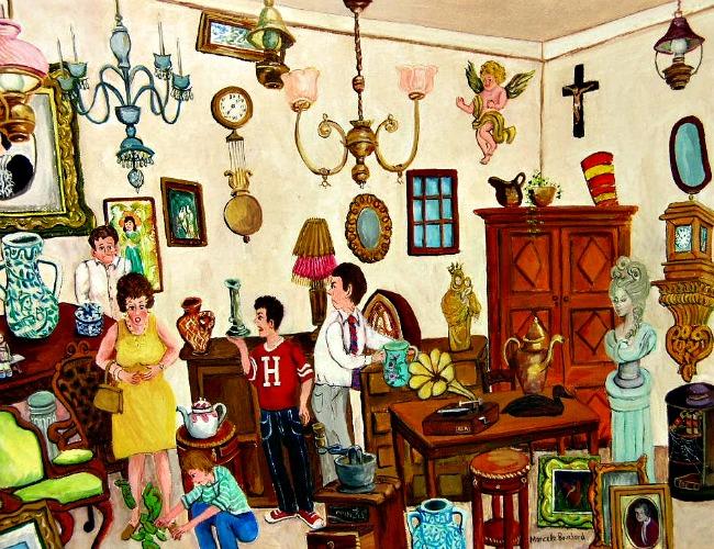 Marcelle Bouchard. The Antique Shop.
