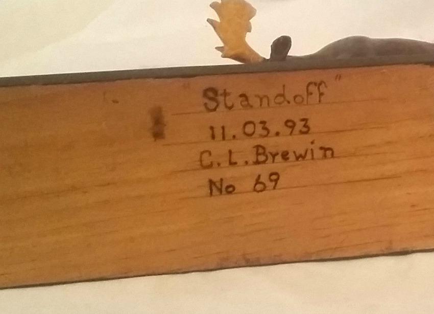 C. L. Brewin. Standoff.  His mark.
