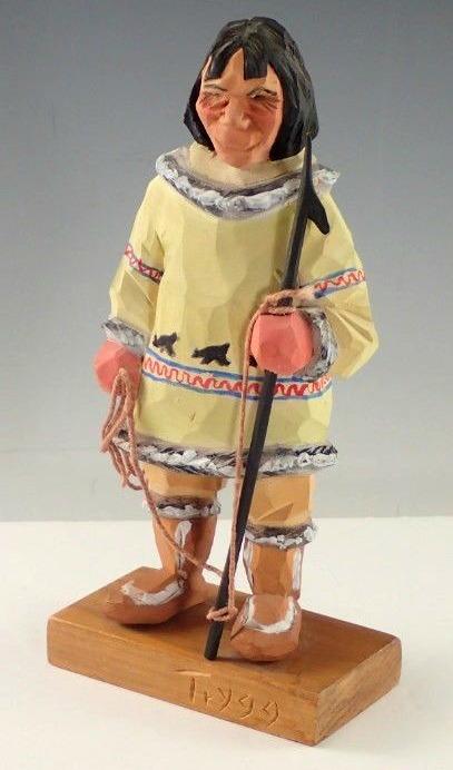 Ellen Trygg. Carving of an Inuit Hunter.