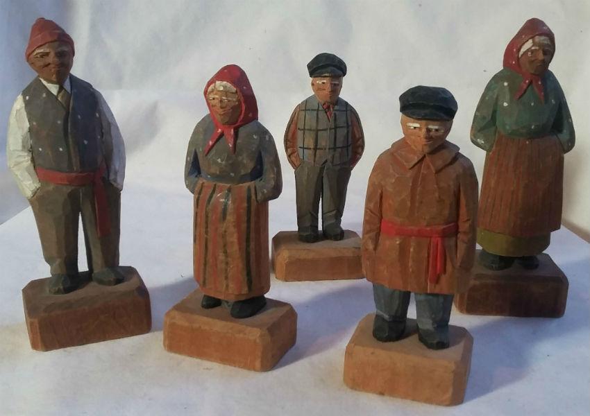 Jean Lelievre. Five Carvings.
