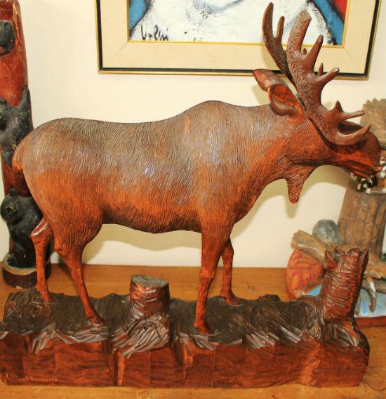 Berthier Beauregard Carving of a Moose