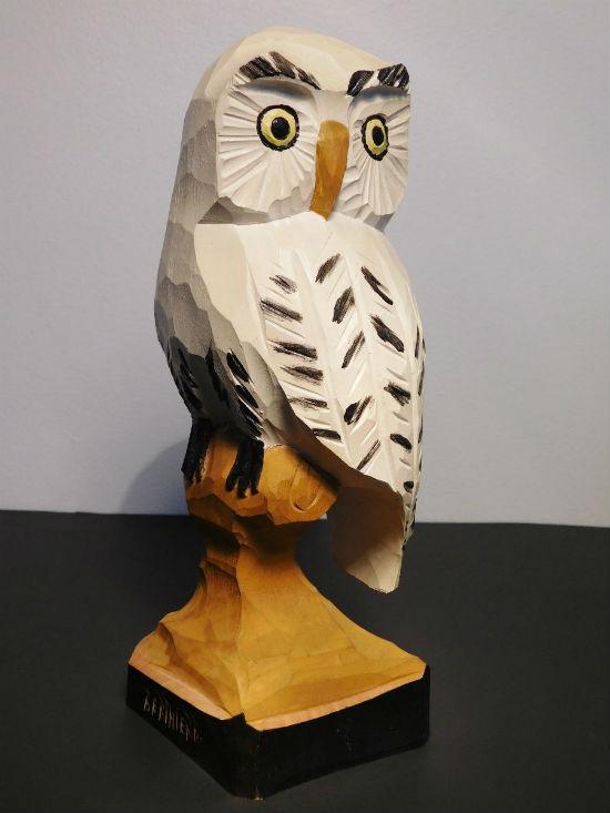 Berthier Beauregard Carving of an Owl