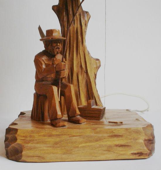 Berthier Beauregarde Carved Figural Lamp Base