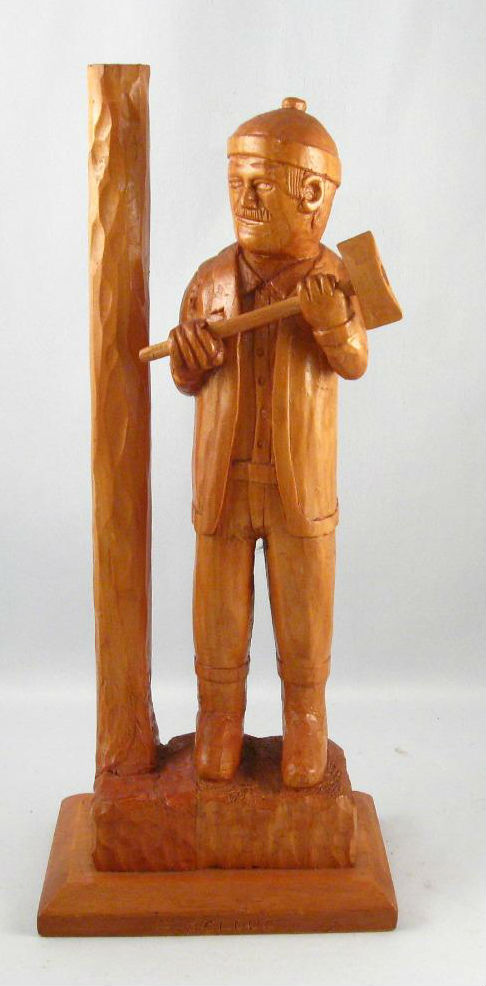 C. Bolduc. Quebec. Naive Carving of a Lumber Jack